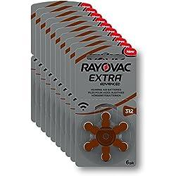Rayovac 312-RAE 10 x 6 (60) Extra aide auditive avancée type de batterie 312