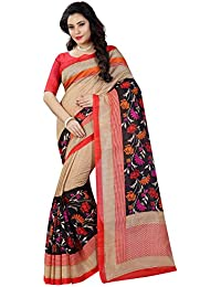 [Sponsored]Sugathari Sarees Women's Multicolor Mysore Bhagalpuri Art Silk Saree