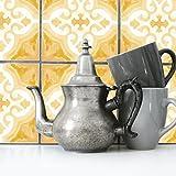 Boubouki Wasserabweisende Fliesenaufkleber RIMAL 08 für Bad und Küche | 15 x 15 cm
