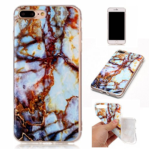 EKINHUI Case Cover Für Apple IPhone 7 Plus Fall Marbling Texture Soft TPU Abdeckung Slim Ultra Thin Anti-Kratzer Schock Absorption Schutzmaßnahmen zurück Cover Shell ( Color : G ) B