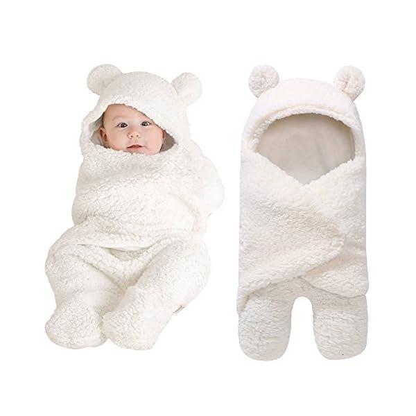 MYONA Saco de Dormir Niños Niñas, Saco de Dormir para Bebés Suave y Cálido Franela de Invierno Sacos para Dormir Niña y Niño Manta para Bebé Carrito de Bebé Blanket Manta Bolsa de Dormir