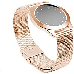 Mallom Steel Wristband Strap Bracelet Sleep Fitness Monitor For Misfit Shine Rose Gold