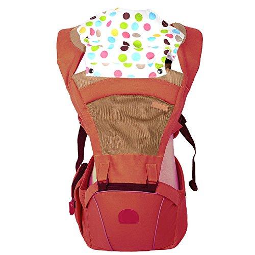 ThreeH fascia porta bebè estiva maglia traspirante rete per il trasporto della neonata BC04,Red