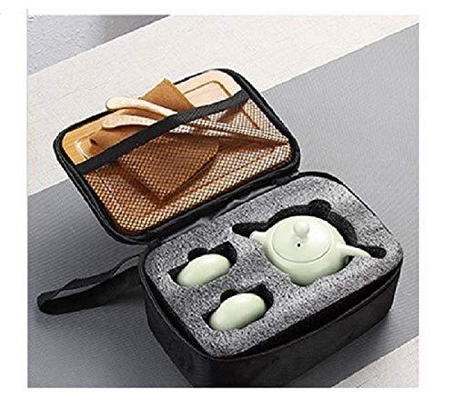 SGYD Zwei Menschen Verwenden Eine Teekanne und Zwei Tassen Keramik Reise Tee-Set Chinesische Teezeremonie