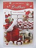 Unbekannt Fantastische Bunte to a Very Special Brother Grußkarte Weihnachten