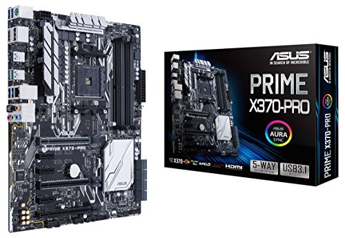 Asus Prime X370-PRO Mainboard Sockel AM4 (ATX, AMD X370, Ryzen, 4x DDR4 Speicher, 8x SATA 6GB/s, M.2 Schnittstelle, Aura)
