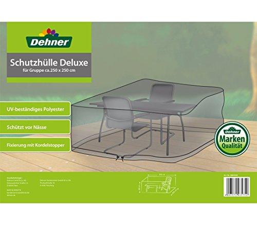Dehner Schutzhülle Deluxe für Gartenmöbel-Gruppe, ca. 250 x 250 x 80 cm, Polyester, anthrazit