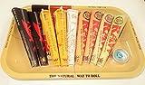 Raw vassoio Set Regalo Stile 1970vassoio piccolo, in metallo affrontare fumatori Collection–9diversi Coni cono per gli amanti, 9confezioni (39) con Mont Ciliegia Bindi regalo da Trendz