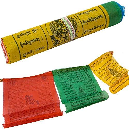 Rolle 20Flaggen FLAGGE Klangschalen buddhistische Gebet Lung Ta Girlande 4Meter