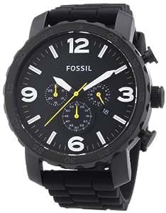 Fossil - JR1425 - Montre Homme - Quartz Chronographe - Chronomètre - Bracelet Silicone Noir