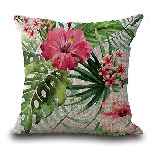 Rawdah Vintage Fiore tropicale Foglie Vita tiro cuscino caso Cuscino Deco domestico comprare on line