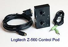 Boîtier de Commande télécommande Filaire de Remplacement pour Logitech Z-560 Ordinateur Haut-Parleur