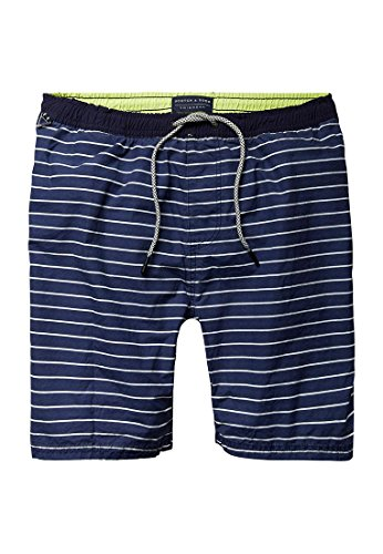 Scotch & Soda Herren Shorts Medium Length Colourful Swim Short in Cotton/Nylon Quality Mehrfarbig (Combo C 219)