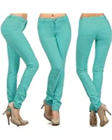 Ladies Womens Skinny Fit Coloured Stretchable Zip Up Jeggings Fit Trouser Pants Denim Jeans Leggings Sizes 8 10 12 14 16 18 20, Also Available in Big Sizes 22 24 26