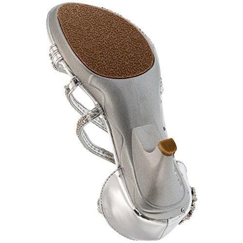 Sandali da ragazza col tacco, pumps #661 Silber