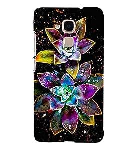Fiobs Designer Back Case Cover for Huawei Honor 5c :: Huawei Honor 7 Lite :: Huawei Honor 5c GT3 (Floral Pattern Design Hara)