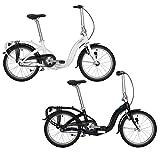 Tern Faltrad Swoop Duo DR 20' 2 Gang Klapp Fahrrad City Rad Faltbar Gepäckträger Nabendynamo LED Alu, SWOODR20