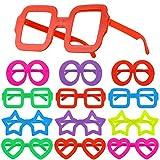 Hifot 12st Lustige Sonnenbrillen Kostümgläser, Kinderpartybeutelfüller für Kinder, Brillengestelle Foto-Prop Partyzubehör
