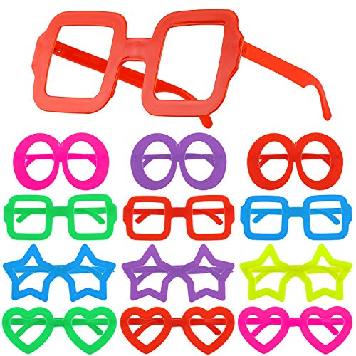 Hifot 12st Lustige Sonnenbrillen Kostümgläser, Kinderpartybeutelfüller für Kinder, Brillengestelle Foto-Prop ()