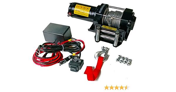 Varan Motors Sc3 0x Elektrische Seilwinde 12v 1360kg 1000w Kabelwinde Länge 9 2m Durchmesser 5 5mm Baumarkt