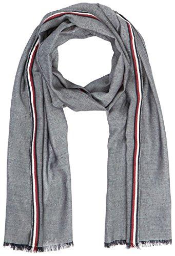Tommy Hilfiger Herren Schal Corporate Stripe Scarf, Grau (Lt Grey Htr 004), One Size