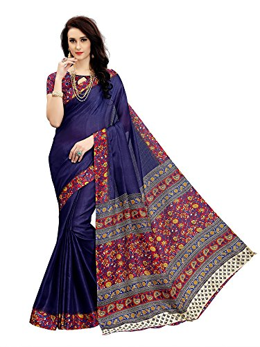 Indian Beauty Women's Khadi Silk With Blouse Saree