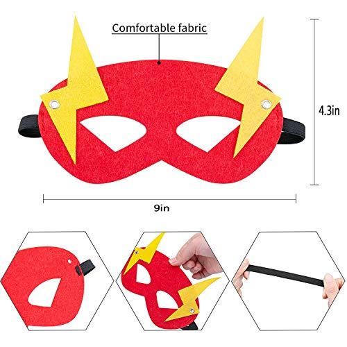 51Guze 4OZL - Ventdest Máscaras de Superhéroe, Suministros de Fiesta de Superhéroes, Máscaras de Cosplay de Superhéroe, Máscaras de Media Fiesta para Niños o Niños Mayores de 3 Años - 32 Piezas