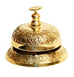 #5: Pindia Antique Vintage Solid Brass Service Desk Bell Hotel Counter Bell Ring