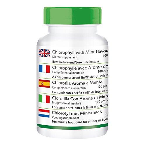 Chlorophyll Kautabletten mit Minzaroma - Großpackung für 100 Tage - VEGAN - 100 Kautabletten - 2