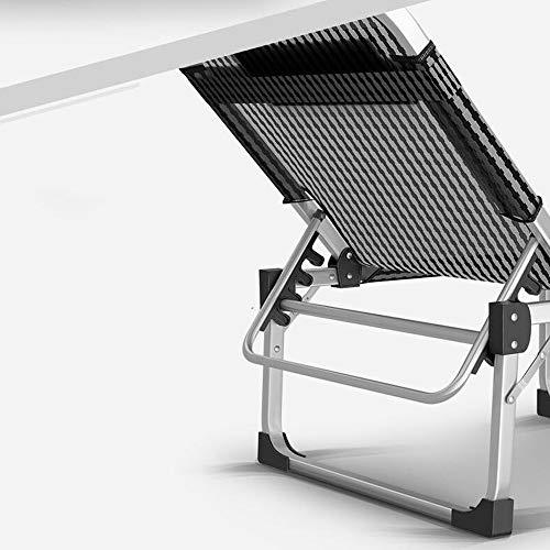 MJK Klappbare Liegestühle, Liegen Multifunktionale Klappbett aus Aluminiumlegierung Office Home Siesta Single Easy March Siesta Lounge Chair,EIN - Easy Lounge Chair
