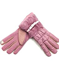 Esquí al aire libre de invierno mantener guantes de desgaste caliente las mujeres