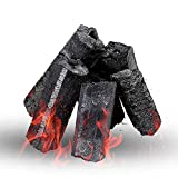 MT& Smokeless Restaurante Grado Lumpwood Carbón 4 kg barbacoas de carbón, Grandes trozos para barbacoas más largas