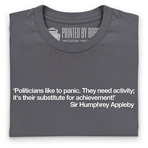 Politicians Like To Panic T-Shirt, Herren Anthrazit