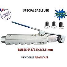Pistola de chorro de arena con gatillo para chorreadora móvil + 4boquillas