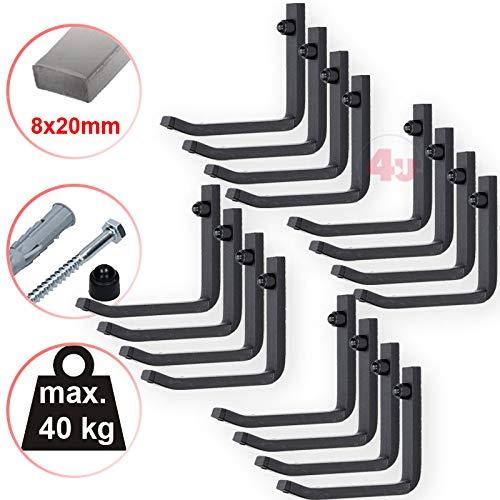 Preisvergleich Produktbild 4U® 16x Wand Reifenhalter 40kg (8x20mm) Felgenbaum Reifenregal Reifen Felgen Wandhalterung Wandhalter