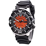 Seiko 2nd Generation Monster, Stainless Steel Case Rubber Strap Orange Dial, 200M - SRP315J1 - Made in Japan