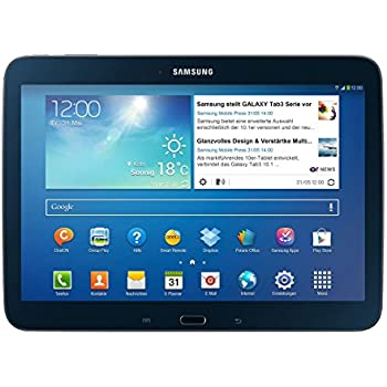"""Samsung Galaxy Tab 3 Tablette tactile 10.1"""" Processeur Intel Atom dual-core 1,6 GHz 16 Go Android Jelly Bean 4.2.1 Bluetooth Noir"""