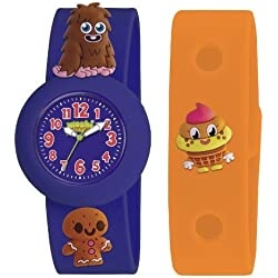 Moshi Monsters Armbanduhr Blau Furi Uhr & Orange Uhrenarmband AMMFU-0002