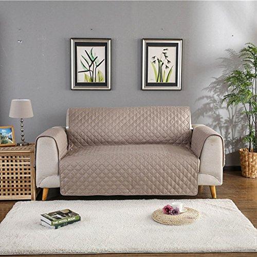 Maxwow reversibile copertura divano impermeabile per gli animali domestici, antiscivolo qulited 1 pezzo divano poliestere mobili coperture -cachi divano