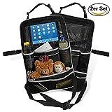 Premium-Rücksitztasche fürs Auto mit Tablett-Fach | Rücksitz-Organizer perfekt für Kinder | Geräumige Rücklehnen-Tasche für Reise-Utensilien & Spielzeug | Abwaschbarer Rücklehnenschutz (Bild: Amazon.de)