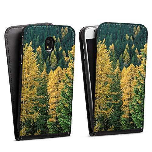 DeinDesign Flip Case kompatibel mit Samsung Galaxy J3 (2017) Tasche Hülle Forest Wald Baeume