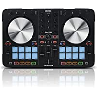 Reloop Beatmix 2 MK2 – 2-Deck USB Performance Pad DJ Controller - 16 Multi-Colour Drum Pads mit Jogwheels und integrierter Soundkarte, Plug and play für Serato DJ, MIDI kompatibel, USB Bus Powered, (schwarz)