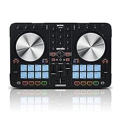 Reloop Beatmix 2 MK2 - 2-Deck USB Performance Pad DJ Controller - 16 Multi-Colour Drum Pads mit Jogwheels und integrierter Soundkarte, Plug and play für Serato DJ, MIDI kompatibel, USB Bus Powered, (schwarz)