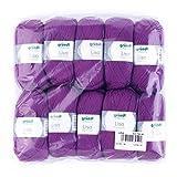 Gründl 760-48 Lisa Premium Wolle, Polyacryl, Purpur, 32 x 27 x 6 cm