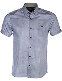 Ted Baker Men's Lorenze Blue Short Sleeved Shirt