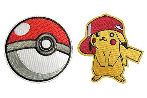 Kostüm Schwester Thor's - J & C Pokemon Charizard und Pikachu 2er Pack Geschenk-Set Bestickt Nähen Patches Applikation