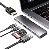 BYTTRON USB C Hub,Thunderbolt 3 Dock,Type c hub with 4K HDMI,TF/SD Card Reader,Type C Female Port,2 USB 3.0,Type c hub Adapter Dongle for MacBook PRO 13″And 15″2016/2017/2018,MacBook Air 13″ 2018