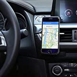 Aukey Universal Car Air Vent Magnetic Holder for iPhone 7/6/5, Samsung Note 8/S8, LG and Other Smartphones - Black