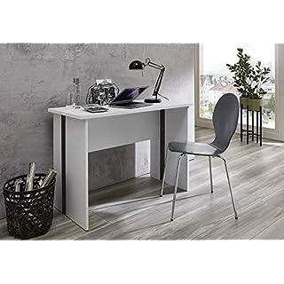 BMG Möbel Schreibtisch FARO Bürotisch Homeoffice PC-Tisch in Weiß B/H/T: 110 x 75 x 50 cm