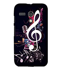 printtech Music Notes Back Case Cover for Motorola Moto G X1032::Motorola Moto G (1st Gen)